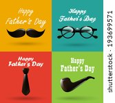 happy fathers day background... | Shutterstock .eps vector #193699571