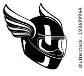 motorcycle helmet with wings in ... | Shutterstock .eps vector #193699964