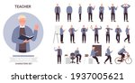 people at work or study vector... | Shutterstock .eps vector #1937005621