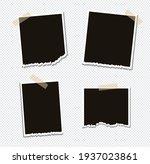 set of vector photo frame...   Shutterstock .eps vector #1937023861