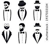 men's collection. gentleman's... | Shutterstock .eps vector #1937033104