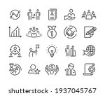 business line icons   vector... | Shutterstock .eps vector #1937045767