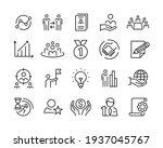 business line icons   vector... | Shutterstock .eps vector #1937045767
