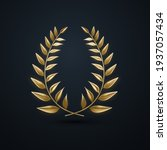 golden laurel wreath. vector 3d ...   Shutterstock .eps vector #1937057434