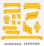 vector yellow ribbons set....
