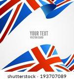 vector flag of uk isolated on... | Shutterstock .eps vector #193707089