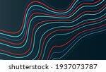 dynamic color line on dark...   Shutterstock .eps vector #1937073787