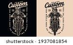 custom motorcycle vintage print ... | Shutterstock .eps vector #1937081854