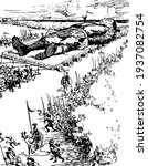 gulliver's journey to the...   Shutterstock .eps vector #1937082754