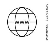 internet icon. line http...