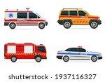 vehicles of various emergency... | Shutterstock .eps vector #1937116327