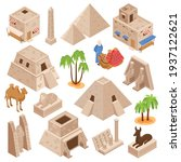 egypt tourists attractions... | Shutterstock .eps vector #1937122621