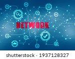 digital abstract technology... | Shutterstock . vector #1937128327