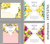 wedding invitation cards with...   Shutterstock . vector #193713761