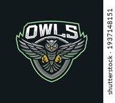 owls mascot logo design... | Shutterstock .eps vector #1937148151