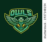 owls mascot logo design... | Shutterstock .eps vector #1937148154