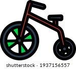 baby trike icon. editable thick ...