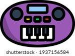 synthesizer toy icon. editable...