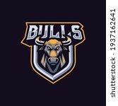 bulls mascot logo design... | Shutterstock .eps vector #1937162641