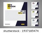 new set of editable minimal... | Shutterstock .eps vector #1937185474