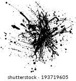 ink blots  splash ink blob  ink ... | Shutterstock .eps vector #193719605