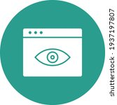 webpage  vision  view icon...   Shutterstock .eps vector #1937197807