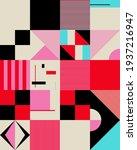 neo modernism artwork pattern... | Shutterstock .eps vector #1937216947