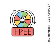 free spins  olor line icon....