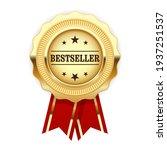 golden medal bestseller with... | Shutterstock .eps vector #1937251537