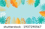 simple tropical palm and... | Shutterstock .eps vector #1937290567
