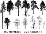 illustration with trees set... | Shutterstock .eps vector #1937300644