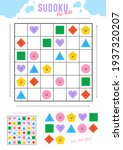 sudoku for kids with various... | Shutterstock .eps vector #1937320207
