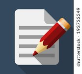 document and pencil icon in...