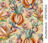 folk seamless pattern  | Shutterstock . vector #193733321