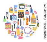 set of different cosmetics ... | Shutterstock .eps vector #1937334091