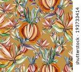 folk seamless pattern  | Shutterstock . vector #193733414
