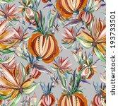 folk seamless pattern  | Shutterstock . vector #193733501