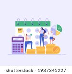 family budget planning. young... | Shutterstock .eps vector #1937345227