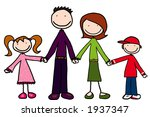 happy family of four | Shutterstock . vector #1937347