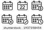 calendar icon set  collection... | Shutterstock .eps vector #1937358454