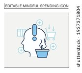 conscious consumer line icon.... | Shutterstock .eps vector #1937371804