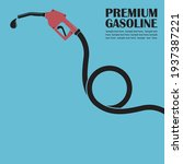 gasoline fuel pump nozzle... | Shutterstock .eps vector #1937387221
