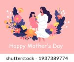 happy mother's day colorful... | Shutterstock .eps vector #1937389774