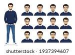 handsome bearded business man...   Shutterstock .eps vector #1937394607