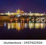 Panorama Of The Prague Castle...