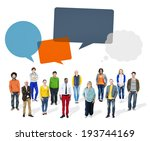 group of multiethnic diverse... | Shutterstock . vector #193744169