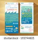 summertime holiday party... | Shutterstock .eps vector #193744835