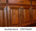 Stock photo kitchen cabinet doors 19374634