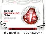 singing talent show landing...   Shutterstock .eps vector #1937510047
