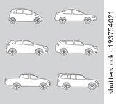 cars icon set. vector car... | Shutterstock .eps vector #193754021